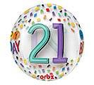 "21""PKG HBD ORBZ 21 BIRTHDAY RAINBOW"