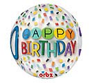 "16""PKG HBD ORBZ 30 BIRTHDAY RAINBOW 1st Alternate Image"