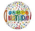 "16""PKG HBD ORBZ 40 BIRTHDAY RAINBOW 1st Alternate Image"