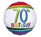 "17""PKG HBD RAINBOW 70"