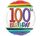 "17""PKG HBD RAINBOW 100"