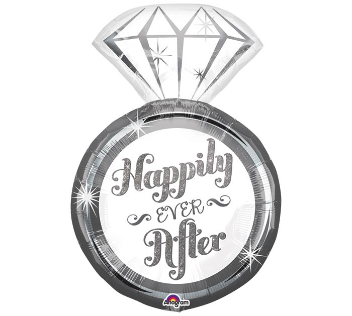 """27""""PKG WED HAPPILY EVER AFTER RING"""