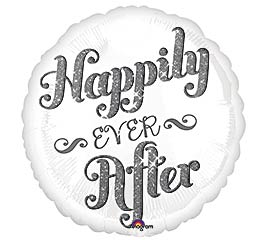 "17""PKG WED HAPPILY EVER AFTER"