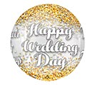 "16""PKG WEDDING CONFETTI ORBZ CLEAR"
