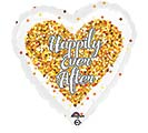 "17""PKG WED CONFETTI WEDDING HEART"
