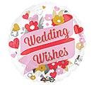 "17""PKG WEDDING WISHES FLORAL"