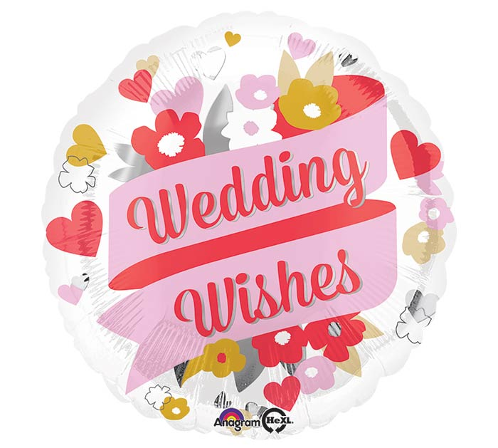 "17""PKG WEDDING WISHES FLORAL"