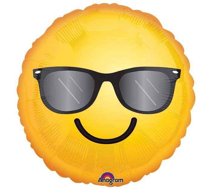"17""PKG SMI SMILING SUNGLASSES EMOTICON"