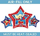 "9""DC SUPER HERO GIRLS MUST FILL WITH AIR"