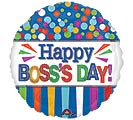 "17"" BOSS'S DAY DOTS  STRIPES"