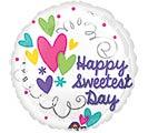 """17""""HSD SWEETEST DAY HEARTS  SWIRLS"""