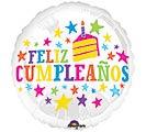"""17""""PKG SPA FELIZ CUMPLEANOS STARS"""