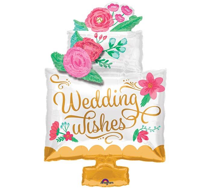 "30""PKG WEDDING WISHES CAKE"