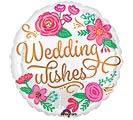 """17""""PKG WEDDING WISHES GOLD SWIRLS"""
