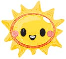 "14""INFLATED HAPPY SUN FACE"