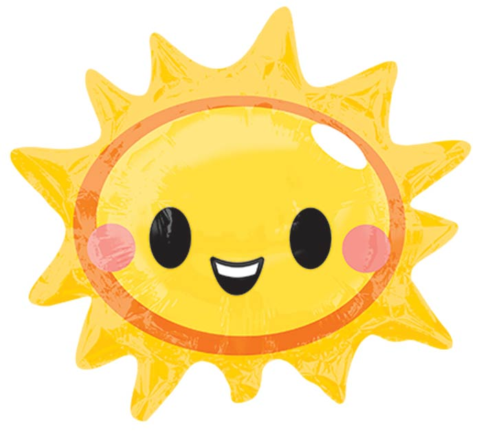 """14""""INFLATED HAPPY SUN FACE"""