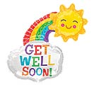 """14""""INFLATED GWS GET WELL RAINBOW"""