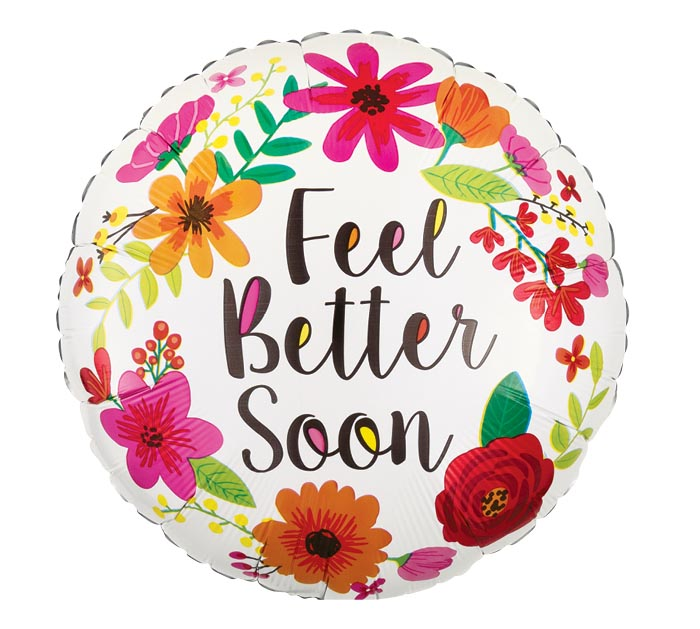 "17""PKG GWS FEEL BETTER SOON FLORAL WREAT"
