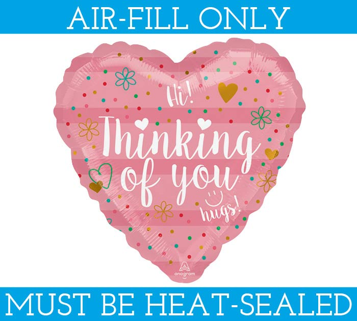 "9""FLAT THINKING OF YOU CORAL HEART"