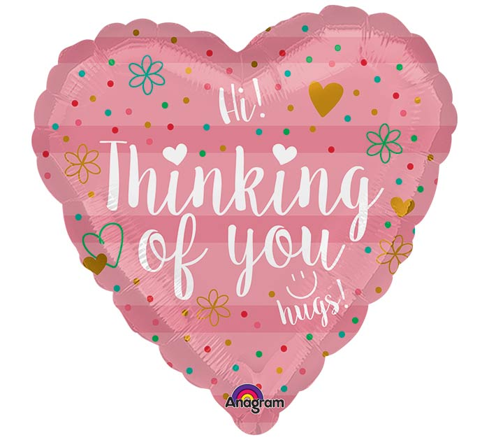 "17""PKG THINKING OF YOU CORAL HEART"