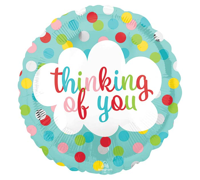 "9""INFLATED THINKING OF YOU DOTS"