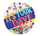 "17""PKG CON IT'S YOUR DAY HIP HIP HOORAY"