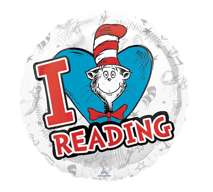 "17""PKG CHA DR SEUSS HATS OFF TO READING"