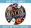 "9""FLAT HAPPY HALLOWEEN MINI BALLOON"