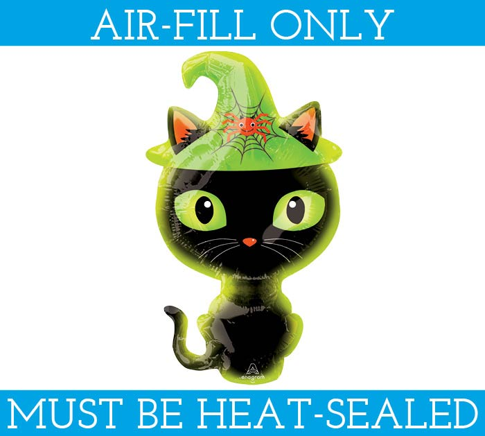 "14""FLAT BLACK KITTY MINI SHAPE"
