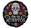 "9""INFLATED HAL DIA DE MUERTOS"