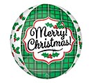 "15""PKG XMA ORBZ CHRISTMAS HOLLY"