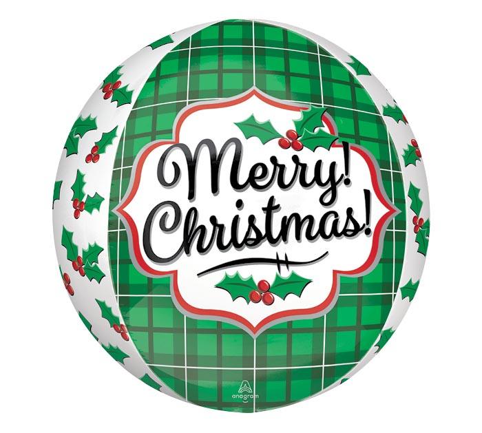 """15""""PKG XMA ORBZ CHRISTMAS HOLLY"""
