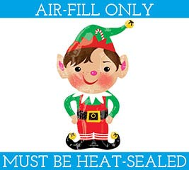 "14""FLAT JOLLY CHRISTMAS ELF MINI SHAPE"