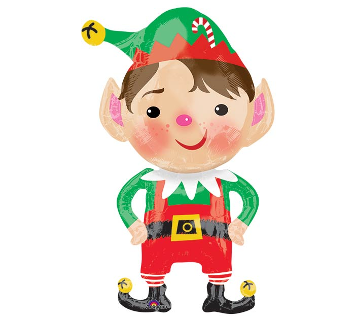 "35""PKG XMA JOLLY CHRISTMAS ELF"