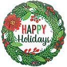 "17""XMA HAPPY HOLIDAYS WREATH"