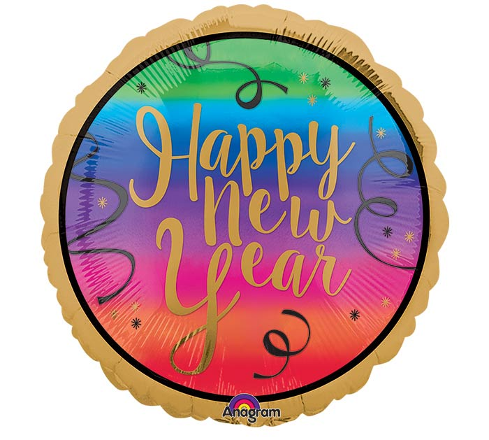 """17""""HNY COLORFUL NEW YEAR"""
