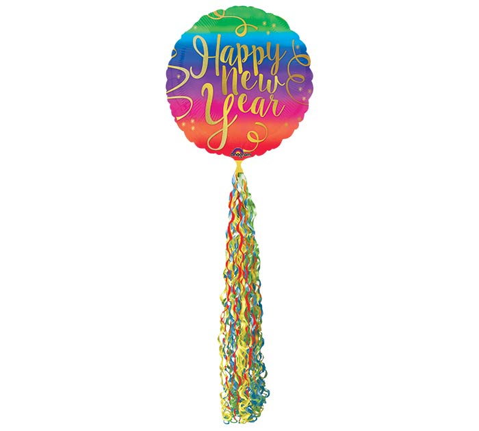 "86""HNY COLORFUL NEW YEAR FRINGE POM POM"