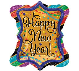 "27""PKG HNY NEW YEAR RUFFLE FRAME"