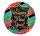 "17""HNY NEW YEAR STREAMERS  STRIPES"