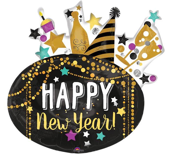 """Hny 2019: 30""""PKG HNY FESTIVE NEW YEAR"""