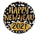 "18""HNY 2019 GOLD  SILVER SPARKLES"