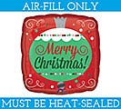 "9""FLAT XMA CHRISTMAS ORNAMENT"