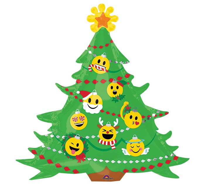 "34""PKG XMA EMOTICON CHRISTMAS TREE"