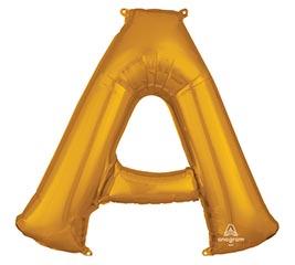 """34""""PKG LETTER A GOLD"""