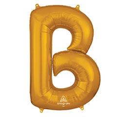 """34""""PKG SHA LETTER B GOLD"""