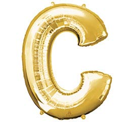 "32""PKG SHA LETTER C GOLD"