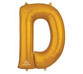"33""PKG SHA LETTER D GOLD"