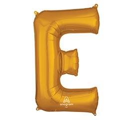 """32""""PKG SHA LETTER E GOLD"""