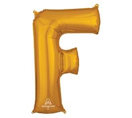 "32""PKG SHA LETTER F GOLD"
