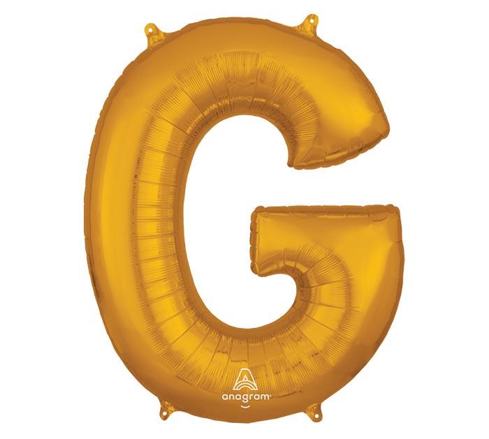 """32""""PKG SHA LETTER G GOLD"""
